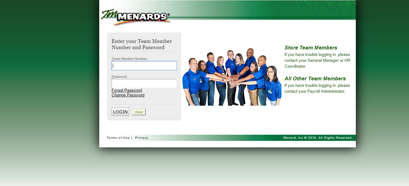 TM Menards Login
